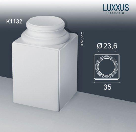 Zuilen Voetstuk Origineel Orac Decor K1132 LUXXUS Hoge vierkante sokkel voor volle zuilen