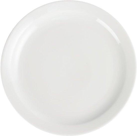 Olympia Whiteware borden met smalle rand | 25 Ø cm | 12 Stuks