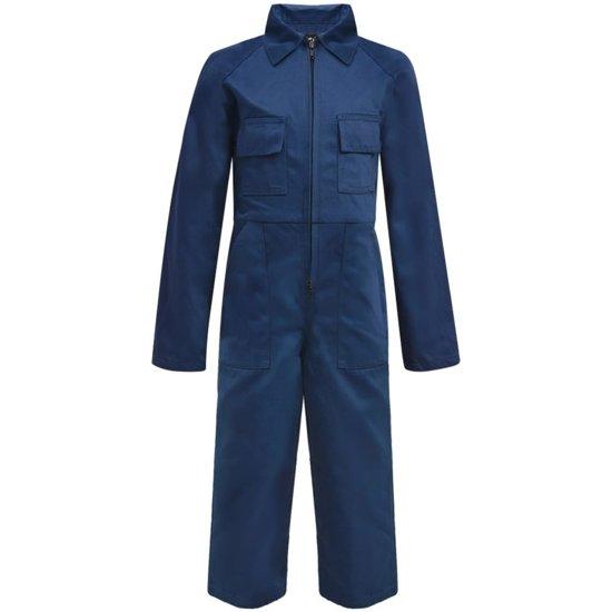 vidaXL Kinderoverall met mouwen maat 110/116 blauw