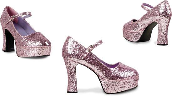Chaussures Discothèque Paillettes Rose VsA46