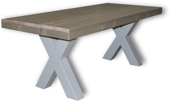 2 Persoons Tafel : Bol tafel axel persoons eettafel u vintage wit
