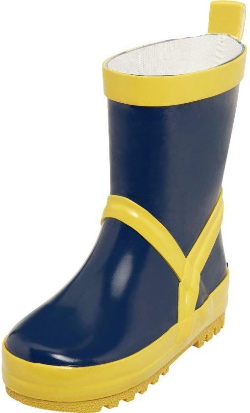 Playshoes Regenlaarzen Marineblauw/geel Maat 30/31