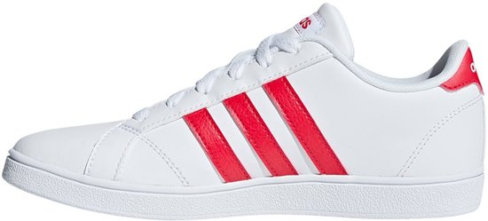 adidas Baseline sneakers Dames wit/rood