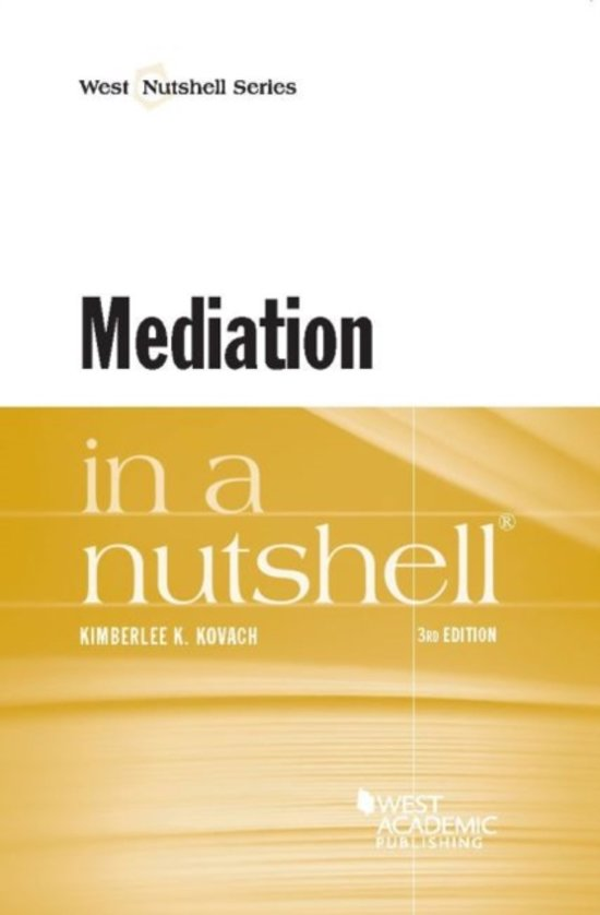 Mediation in a Nutshell