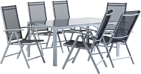 Bol beliani catania tuinset zwart stoelen en tafel