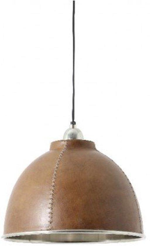 Hanglamp Rond - Bruin Leer Zadel kevin - Ø30X21cm