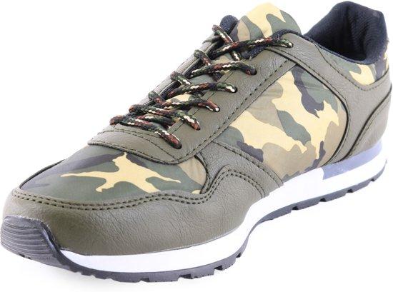 Kamouflage Heren Met Print Manzotti Sneakers Groen Laag Van nxnpS