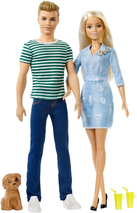 Barbie en Ken Puppy Cadeauset - Barbiepop