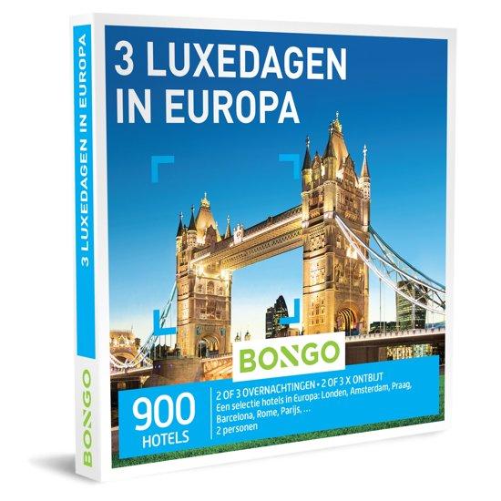 Betere bol.com | Bongo Bon Nederland - 3 Luxedagen in Europa Cadeaubon QL-66