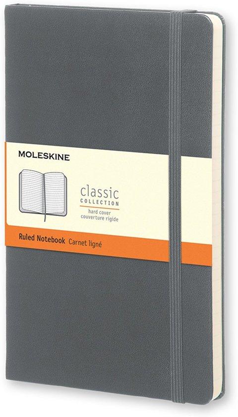 Moleskine Classic Ruled Notebook Pocket Hard Cover Slate Grey