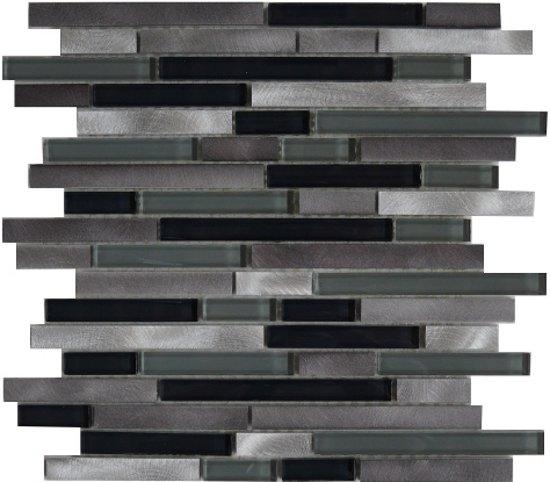bol com   Mozaiek tegel zwart glas aluminium