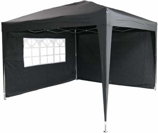 Garden Royal Partytent 3x3m Easy Up zwart met 2 zijwanden