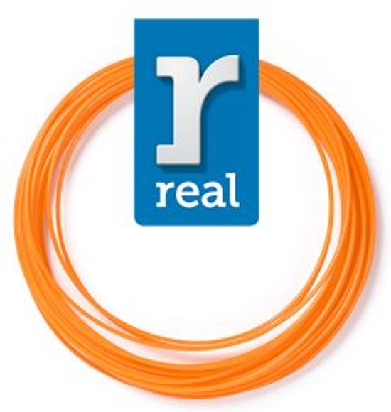 10m High-quality PLA 3D-pen Filament van Real Filament kleur oranje