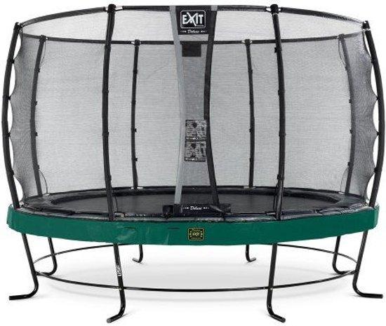 EXIT Elegant trampoline ø427cm met veiligheidsnet Deluxe - groen