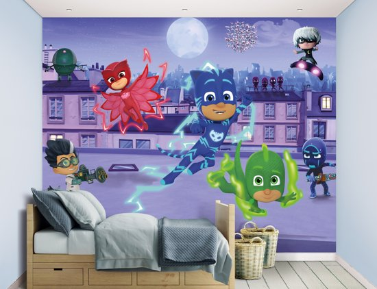 Dora Behang Kinderkamer.Bol Com Behang Pj Masks Walltastic 245x305 Cm