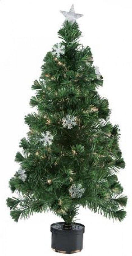 Kerstboom Met Verlichting.Kunst Kerstboom Met Fiber Verlichting 60 Cm