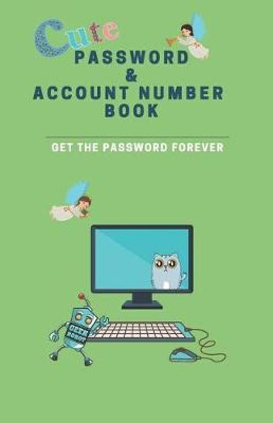 Cute Password & Account Number Book