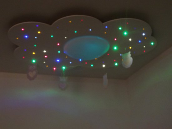 bol.com | Woo\'z Cloud Sparkling White kinderlamp sterrenhemel