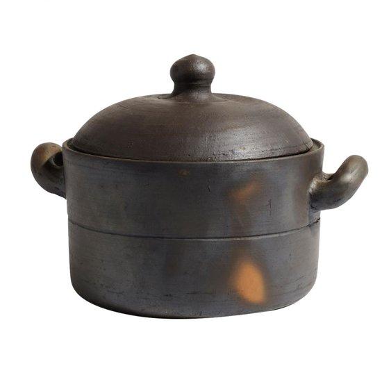 Muubs Ceramic brown pot m/deksel H16cm - D26cm