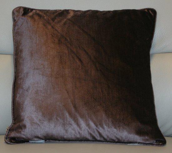 Sierkussen Lovisa - donker taupe - 45x45 cm