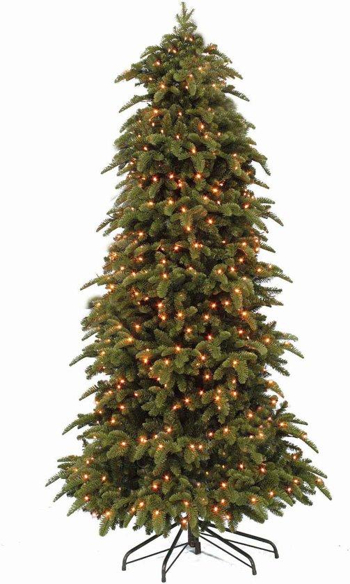 triumph tree abies nordmann halve kunstkerstboom h245d135cm met energiezuinige led lampjes