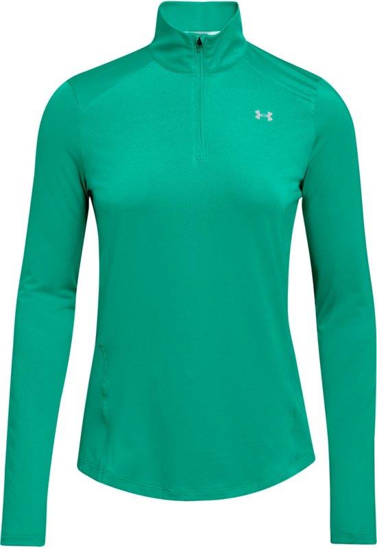 Under Armour Speed Stride 1/4 ZIP Sportshirt Dames - Green Malachite - Maat L