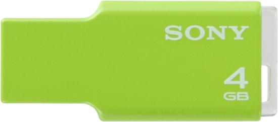 Sony USM4GM Usb 4gb Micro Vault Ultra Green 4GB - USB-Stick / Groen