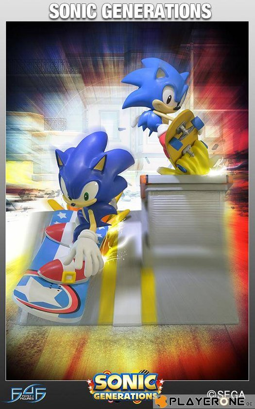 Figurines SONIC - Sonic Generation Diorama Statue ( Limited Edition 1000 Exp )