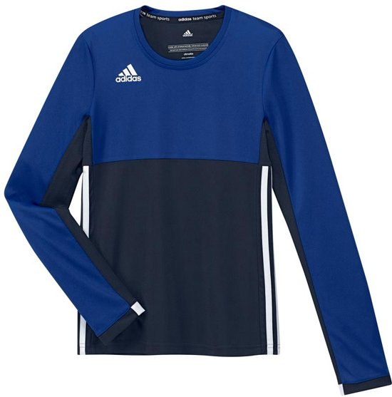 adidas T16 Long Sleeve Shirt Girls Shirts blauw donker 128