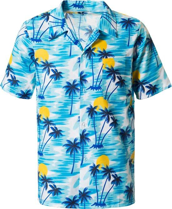 Mannen Blouse Of Overhemd.Bol Com Hawaii Blouse Voor Heren Blauw Maat S M Partychimp