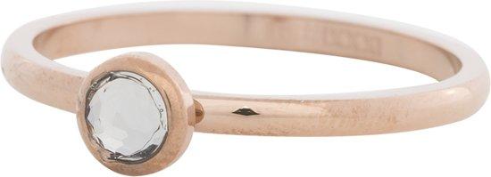iXXXi Jewelry Vulring 6mm Zirkonia White roségoudkleurig 2mm - maat 18