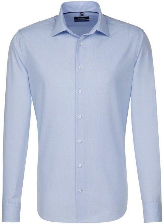 Seidensticker overhemd tailored fit lichtblauw, maat 40