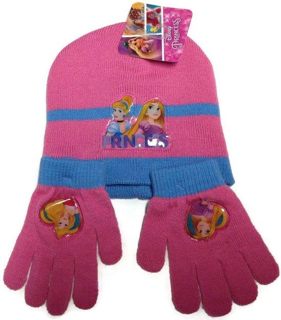 Muts en handschoenen |prinses kleur rose 2 tm 5 jaar