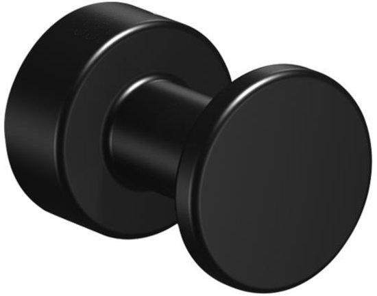Kleding- en handdoekhaak Techno ø25mm mat zwart