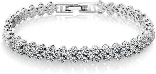 Armband Mode Romeinse Stijl Dames 925 Sterling Silver Crystal