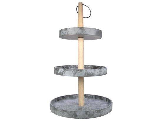 Gusta Etagere - 3-laags - 50 cm hoog - Betonlook