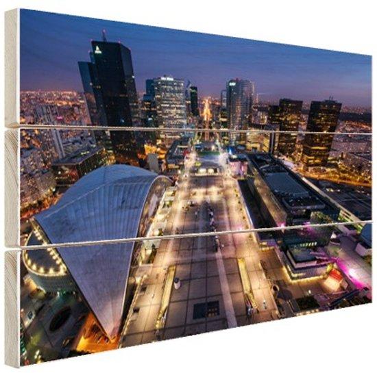 District La Defense Hout 160x120 cm - Foto print op Hout (Wanddecoratie) XXL / Groot formaat!