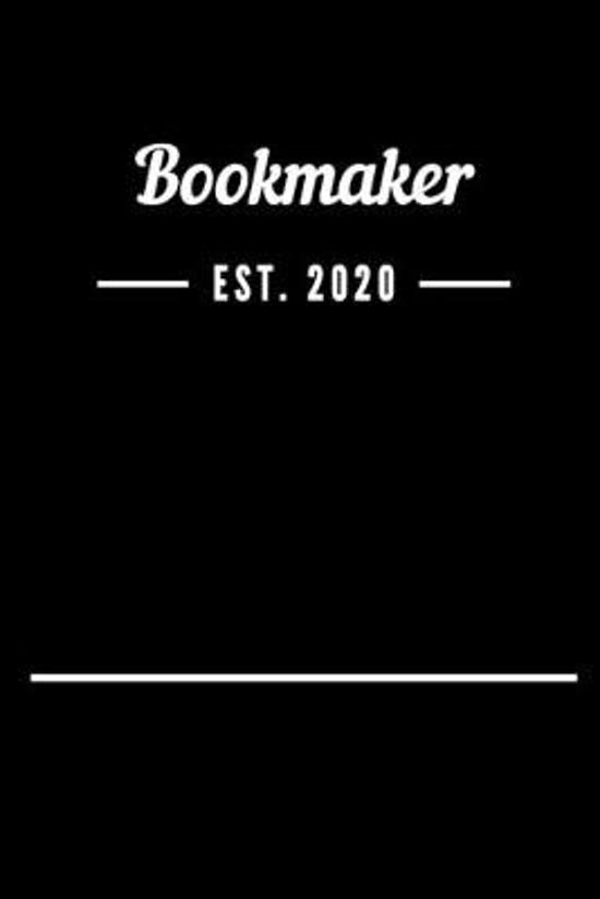 Bookmaker EST. 2020: Blank Lined Notebook Journal