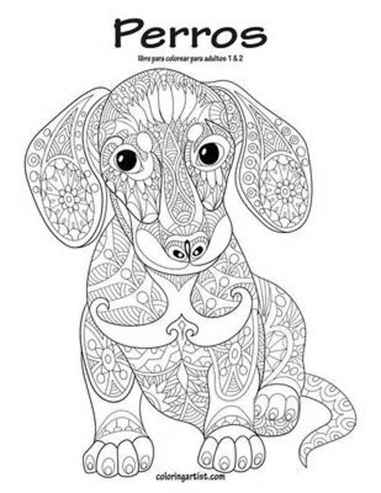 bol.com   Perros Libro Para Colorear Para Adultos 1 & 2, Nick Nick ...