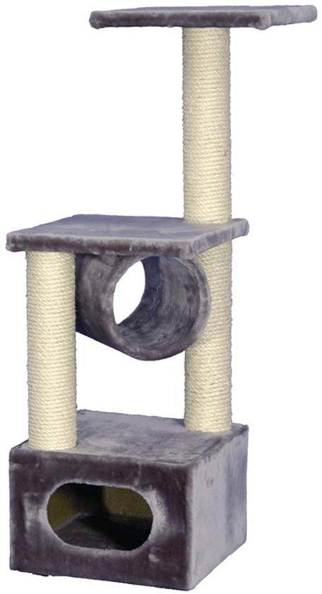 Nobby krabmeubel exclusive 2 pluche en sisal grijs 38 x 38 x 108 cm - 1 st