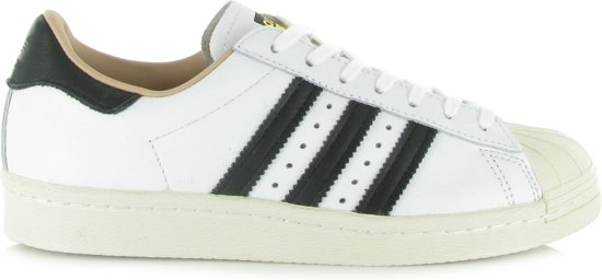 Witte Adidas Sneakers SUPERSTAR 80S DAMES wit Leer