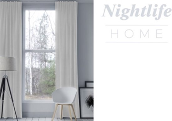 nightlife home gordijn haken ecru