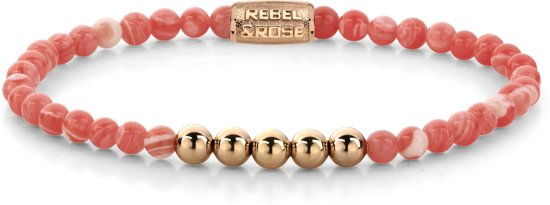 Rebel&Rose armband - Coral Beach - 4mm - rose gold plated