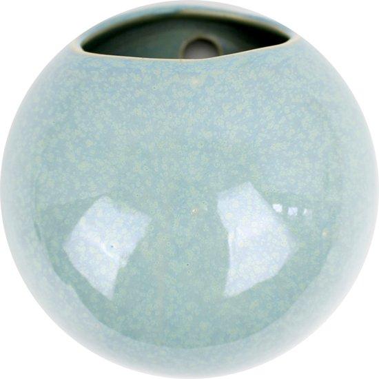 Pt, (Present Time) Globe - Wand bloempot - Keramiek - Ø14,5 x 9,8 cm - Groen
