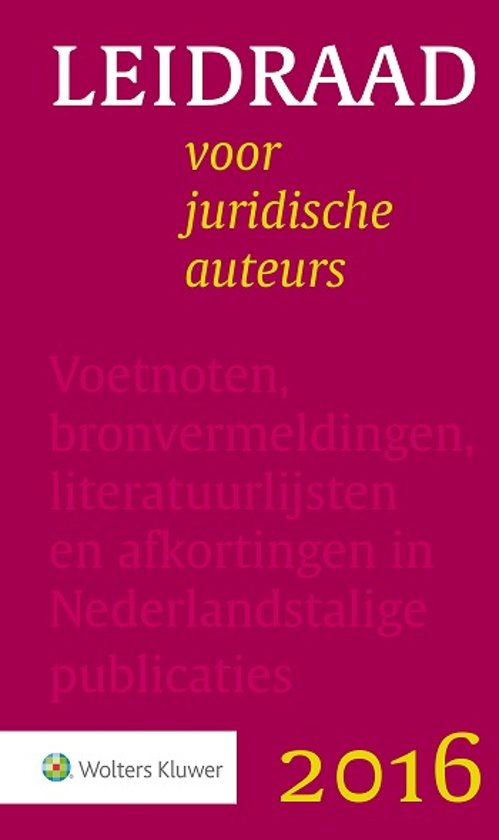 Boek cover Leidraad voor juridische auteurs van Div (Paperback)