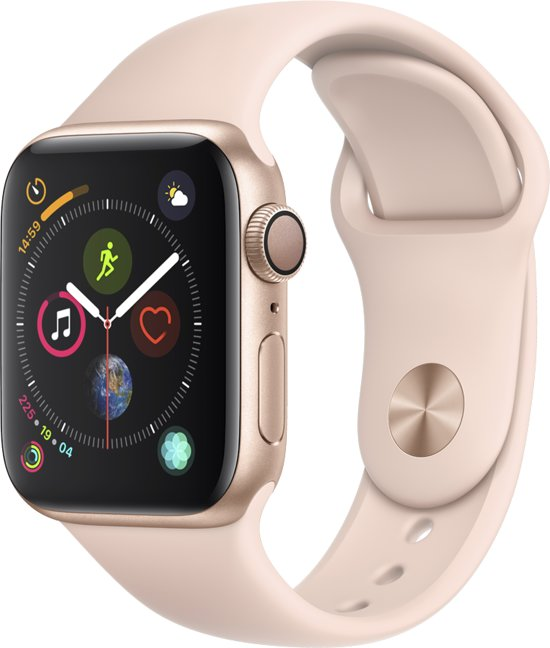 Apple Watch Series 4 - 40 mm - goud met roze bandje