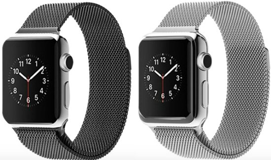 Milanees Apple Watch Bandje 38mm Mix - Milanese Loop Band iWatch 38mm Black & Silver
