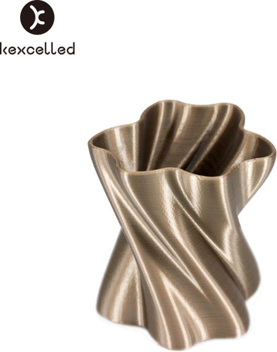 kexcelled-PLAsilk-1.75mm-bruin/brouwn-500g(0.5kg)-3d printing