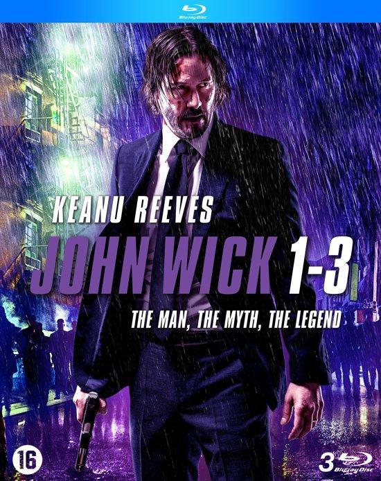 DVD cover van John Wick 1 + 2 + 3 (Blu-Ray) (Boxset)