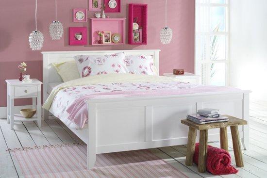 Beter Bed Select bedframe Fontana met polyether matras - Tweepersoons - 140x200cm - Wit